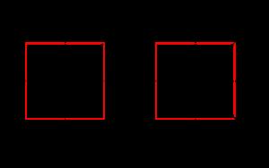 Einheitsquadrat-drehung90
